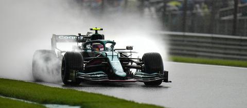 Sebastian Vettel bei der Qualifikation zum Großen Preis von Belgien