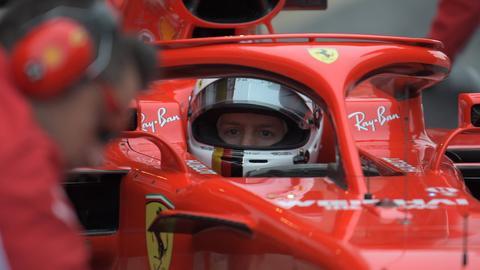 Sebastian Vettel bei den Tests in Barcelona