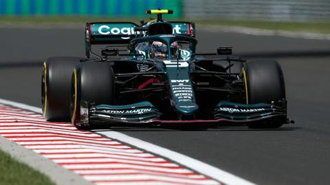 Sebastian Vettel auf der Strecke in Ungarn