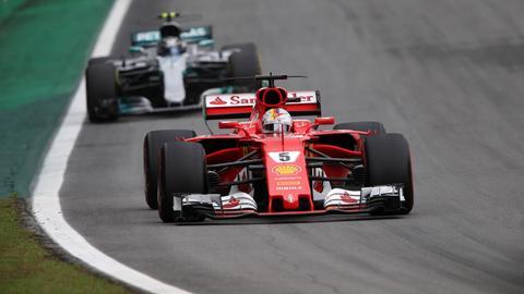 Sebastian Vettel verpasst im Ferrari nur knapp die Pole Position.