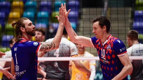 Jochen Schöps (rechts) soll bei den United Volleys eine weitere Rolle übernehmen.