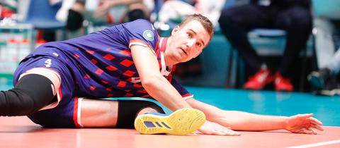 Noah Baxpöhler von den United Volleys im Supercup-Finale