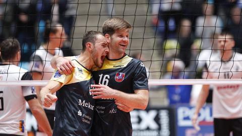 Moritz Karlitzek und Sebastian Schwarz von den United Volleys