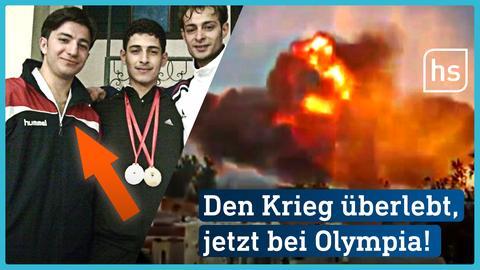 Wael (li.) hat den krieg in Syrien überlebt, jetzt ist er im Refugee Team bei Olympia