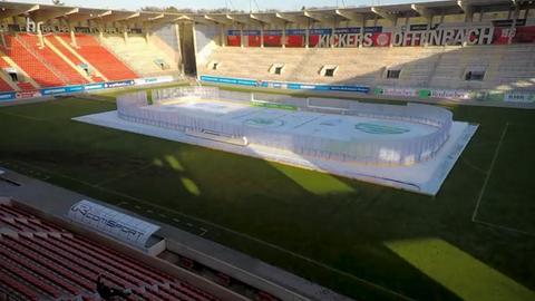 Eisfläche im Offenbacher Stadion