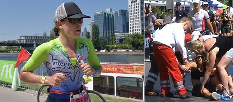 Skye Moench gewann das Rennen, die lange Zeit führende Sarah True brach kurz vor Scluss zusammen.