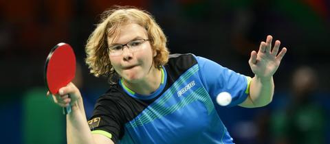 Para-Tischtennis-Spielerin Juliane Wolf 2016 in Rio