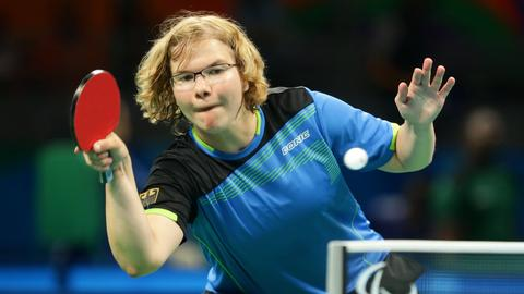 Para-Tischtennis-Spielerin Juliane Wolf 2016 in Rio