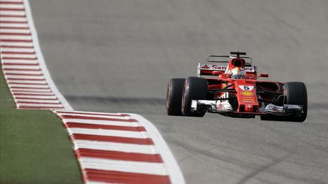 Formel-1-Rennfahrer Sebastian Vettel bei der Qualifikation zum Großen Preis der USA in Austin