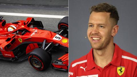Sebastian Vettel und sein Ferrari