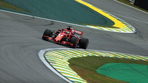 Ferrari-Pilot Sebastian Vettel verpasst die Pole in Brasilien.