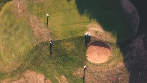 Golfplatz aus der Luft