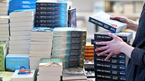 Bücherregal zur Frankfurter Buchmesse