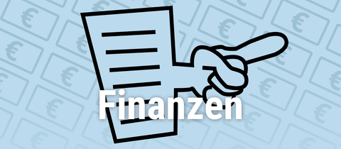 """Icon """"Finanzen"""" für Linkliste - blau"""