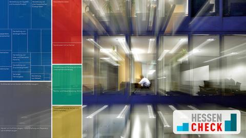 Hessencheck Geld & Arbeit - Szene in einem Großraumbüro
