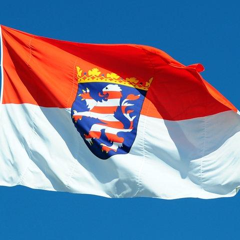 Wehende Hessenflagge