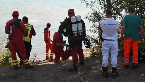 Polizei und DLRG suchten nach dem 17-Jährigen aus Darmstadt.