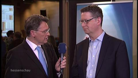Helge Braun (CDU) und Thorsten Schäfer-Gümbel (SPD) zum Ergebnis in Gießen