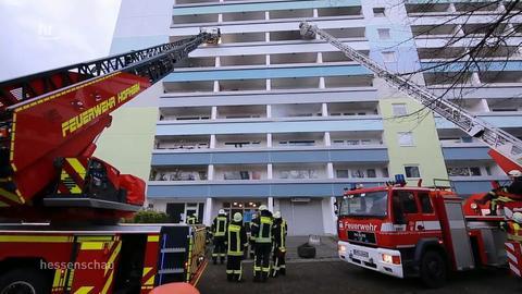 21 Wohnungen nach Hochhausbrand unbewohnbar