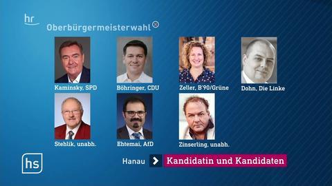 Sieben Kandidaten bei der Oberbürgermeister-Wahl in Hanau