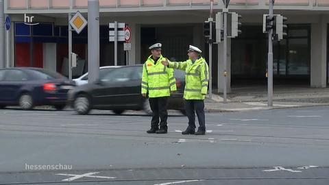 Angehende Ordnungspolizisten üben Erstfall