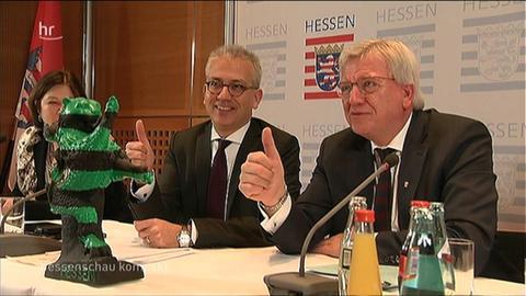 hessenschau-kompakt Video Startbild Zwei Jahre Schwarz-grün