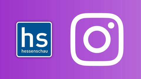 Instagram und hessenschau Logo