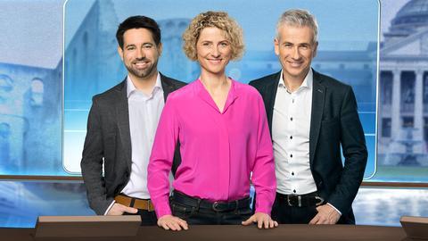 Das Moderatorenteam: Daniel Johé, Kristin Gesang und Andreas Hieke