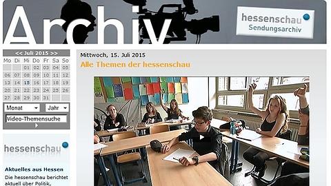 Altes hessenschau-Archiv