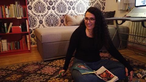Safiye Can - Künstlerin aus der hessenschau-Serie Poesiealbum