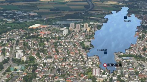 Luftaufnahme Bensheim