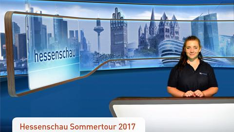 """Besucher des Gederner Sees in der """"hessenschau""""-Fotobox"""