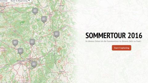 Sommertour Karte 2016