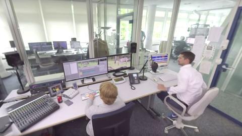 Schnitträume der hessenschau - 360 Grad Blick hinter die Kulissen