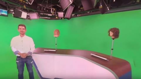 Studio der hessenschau - 360 Grad Blick hinter die Kulissen