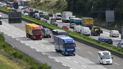 Autobahn A5 zwischen dem Bad Homburger Kreuz und dem Nordwestkreuz Frankfurt