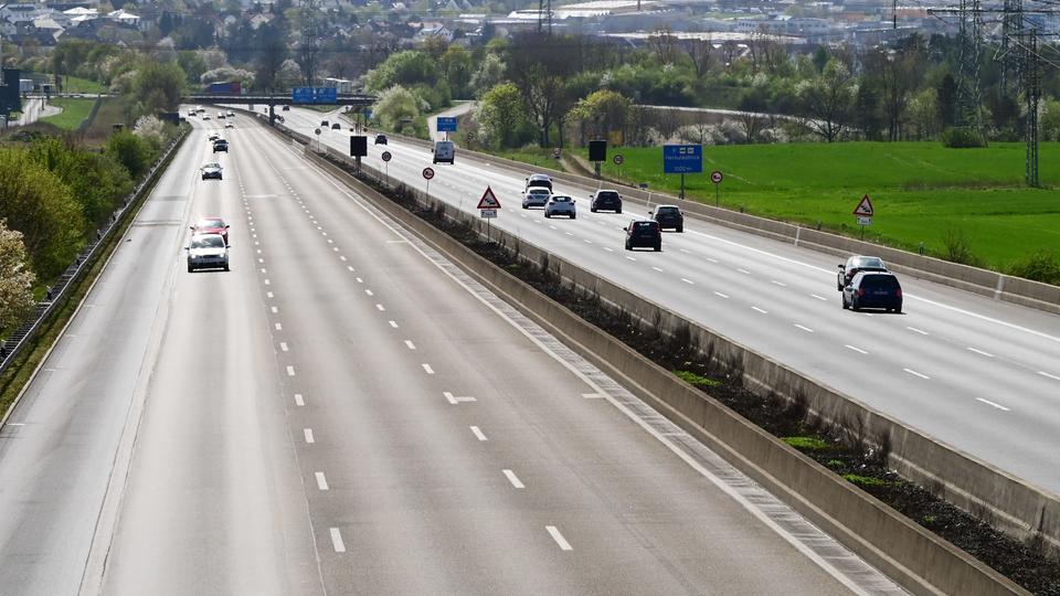 Wenig Verkehr auf der A7 bei Niestetal