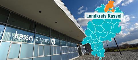 Leerer Eingangsbereich am Kassel Airport