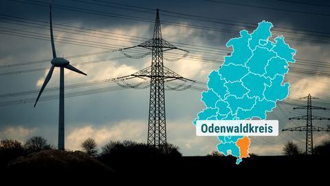 Windkrafträder im Odenwald