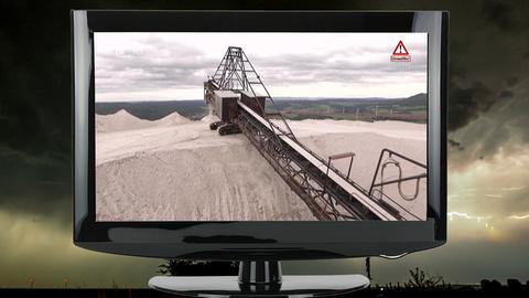 Collage: Gewitter-Wolkenfront über Bad Nauheim / TV-Grät