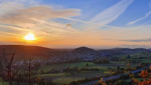 Sonnenuntergang über dem Habichtswald