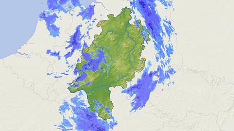 Symbolbild: Regenradar-Karte