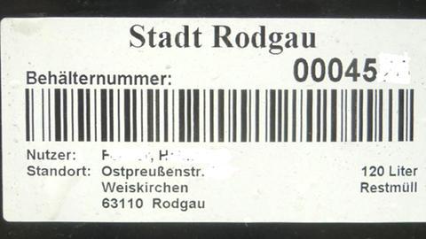Mülltonne Rodgau Namen