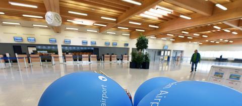 Abflughalle am Kassel Airport