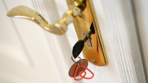 AirBnb Schlüssel in Haustür