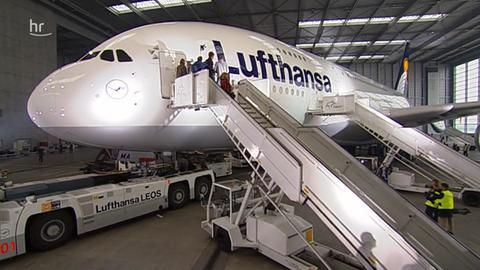 Der erste A380 der Lufthansa in Frankfurt wird getauft