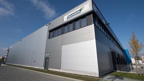 Batteriesystemfabrik von Akasol in Langen