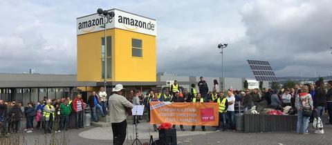 """Beschäftigte von Amazon Bad Hersfeld streiken zum """"Prime Day"""""""