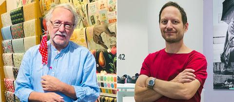 Papeterieverkäufer Arno Jung (links) und Schuhverkäufer Dirk Wallbott.