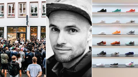 Asphaltgold Sneakerstore Darmstadt mit Inhaber Daniel Benz